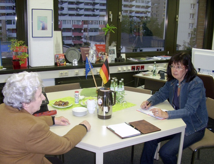 Vertreter der IG Blumenberg zu Besuch bei der Bezirksbürgermeisterin