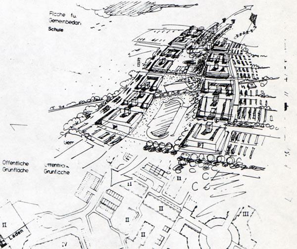 Kreuzfeld- Skizze des Bebauungsplanes