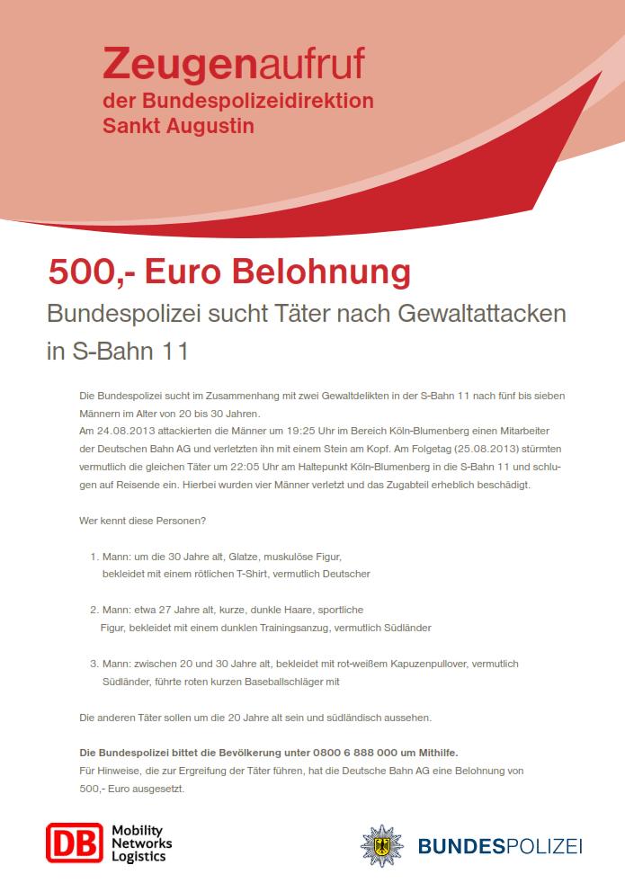 500 Euro Belohnung
