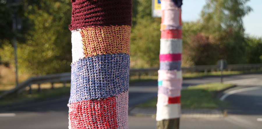 urban knitting in blumenberg