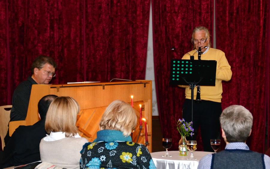 Klavier: Hr. Isenberg, Klarinette: Hr. Heines