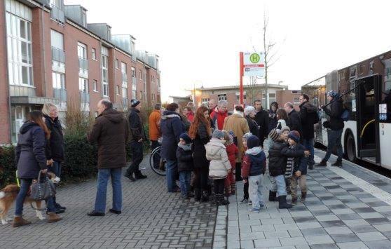 Neue Bushaltestelle in Blumenberg