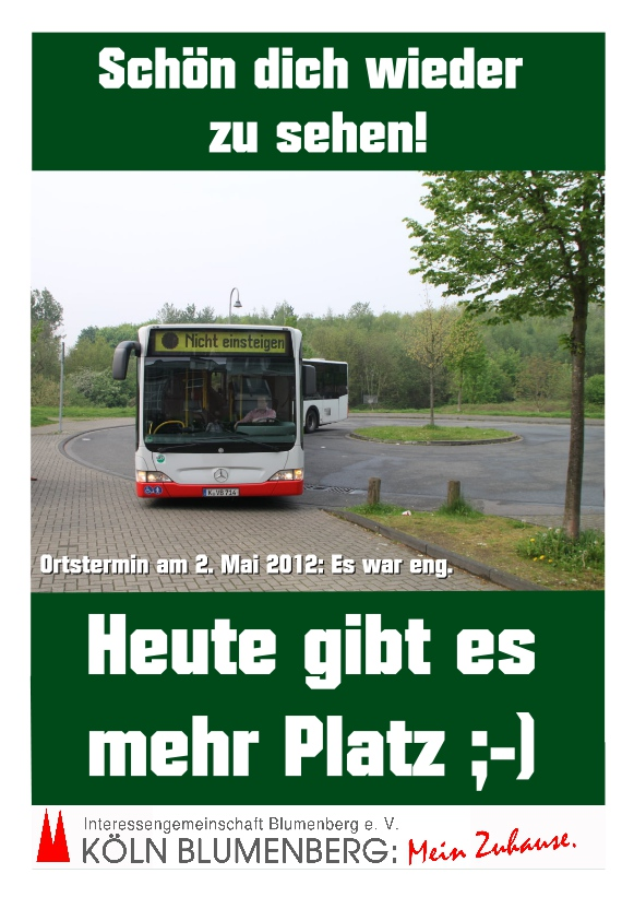 Plakat der IG Blumenberg