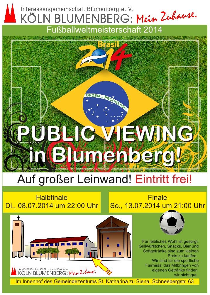 Fußball Live auf Grossleinwand