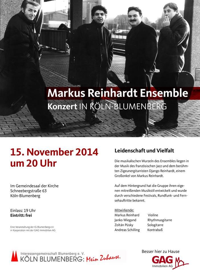Konzert des Markus Reinhardt Ensemble in Blumenberg