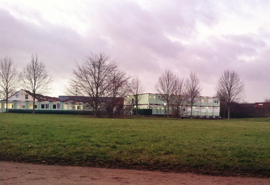 Flüchtlingsheim in Blumenberg