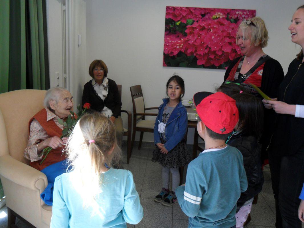 Weinreich feierte ihren 105. Geburtstag