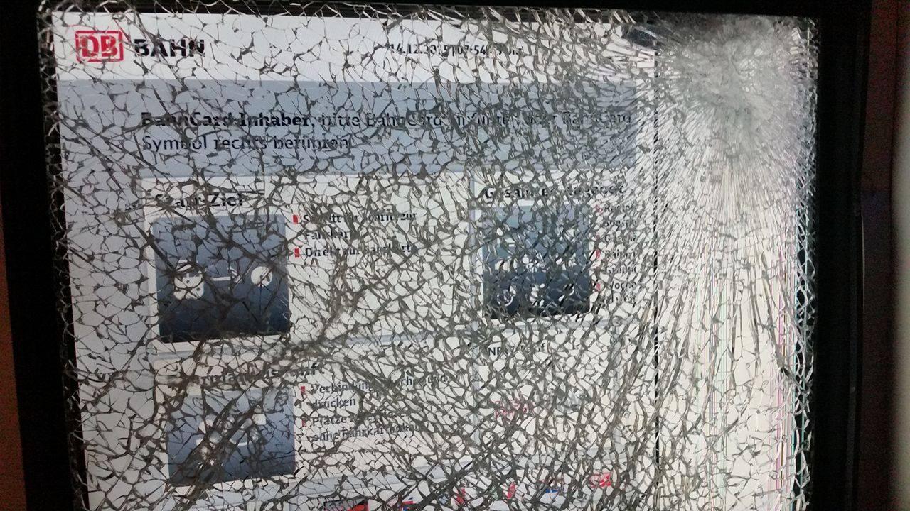 Vandalismus in Blumenberg