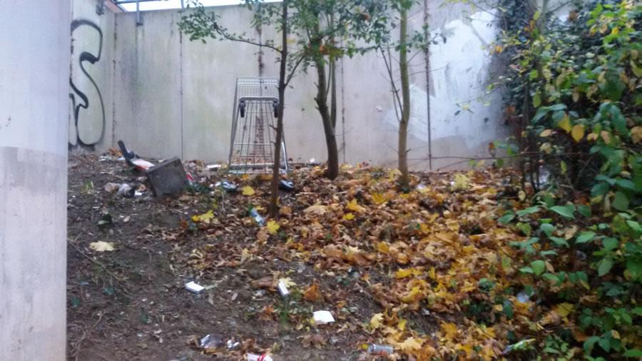 Initiative gegen wilde Müllentsorgung am Blumenberger S-Bahnhof