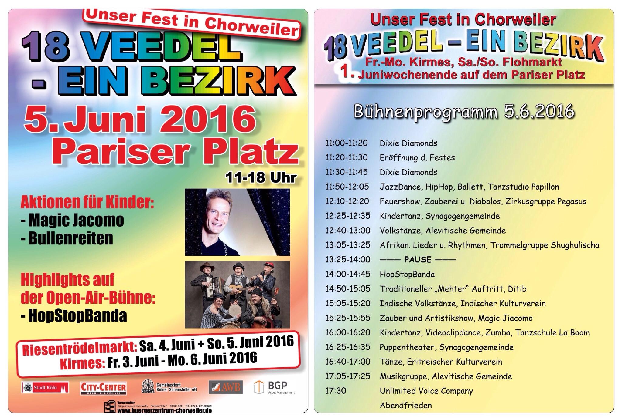Unser Fest in Chorweiler 38. Fest der Kulturen 2016