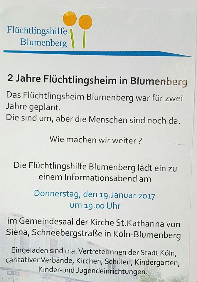 Flüchtlingshilfe Blumenberg