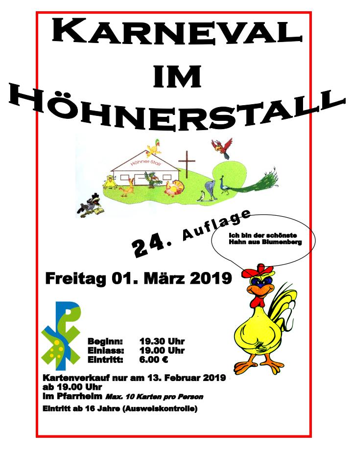 Karneval im Höhnerstall