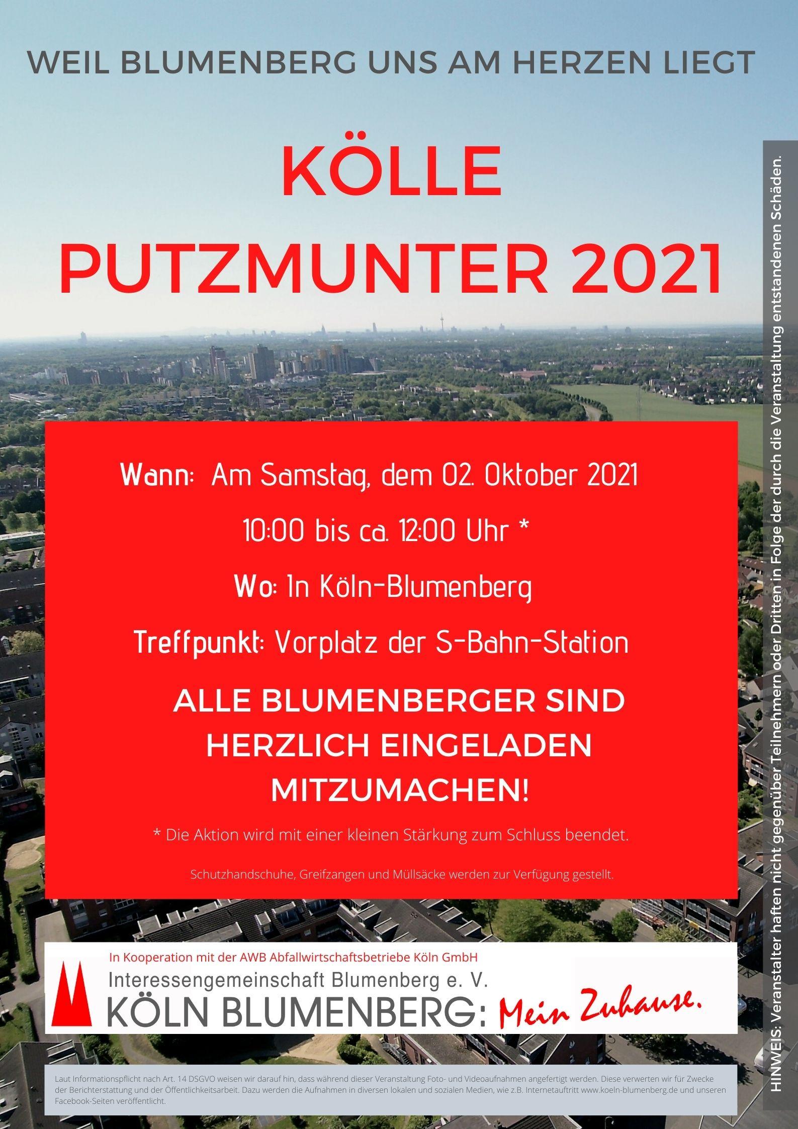 Kölle Putzmunter 2021 in Blumenberg