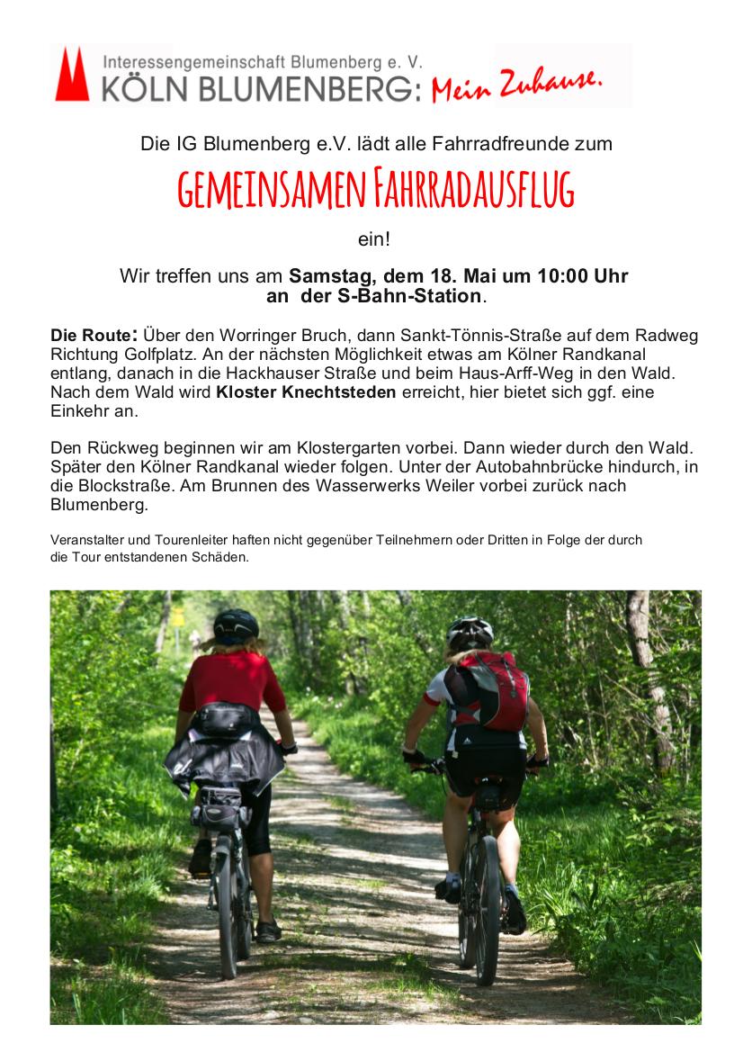 Poster Fahrradausflug 2019