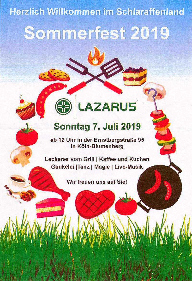 Sommerfest im Lazarus-Haus