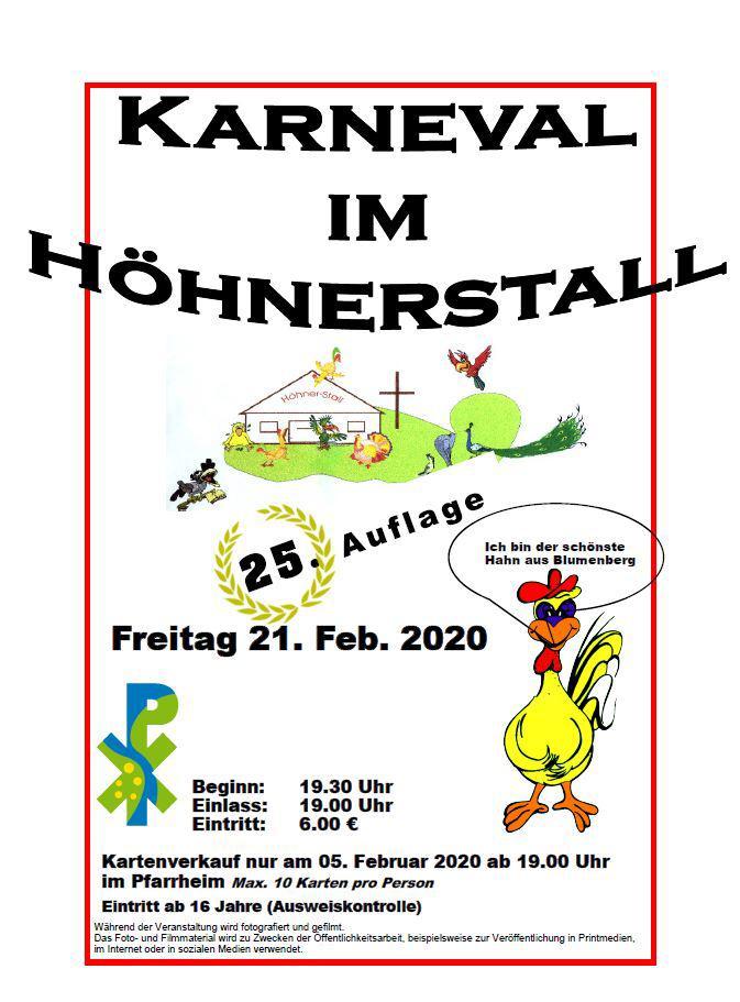 Karneval em Höhnerstall
