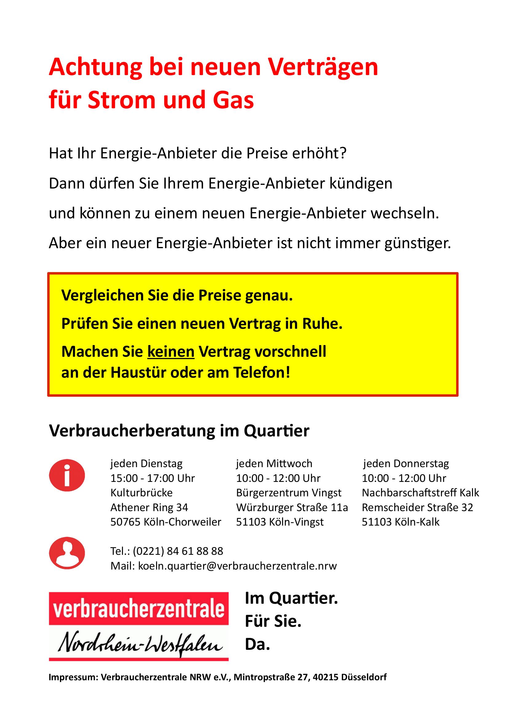 Warnung vor neuen Energieverträgen