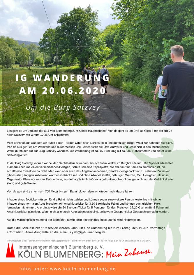 Wandern mit der IG Blumenberg