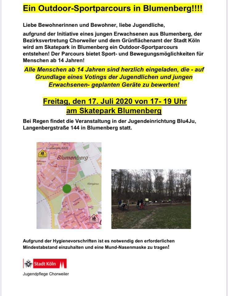 Outdoor-Sportparcours in Blumenberg